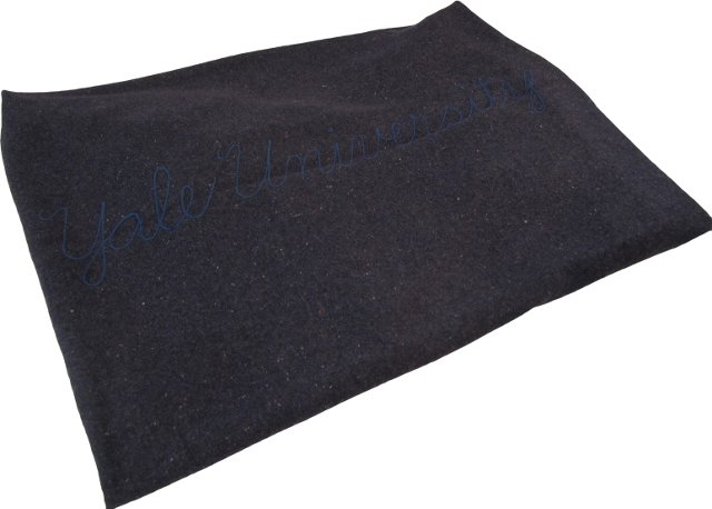Yale University Wool Embroidered Blanket