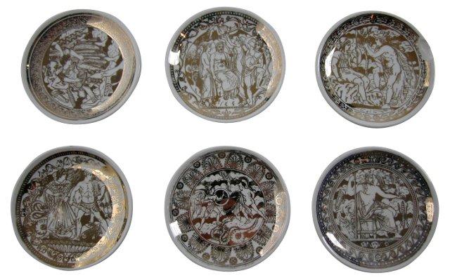 Fornasetti Mitologia  Coasters, S/6
