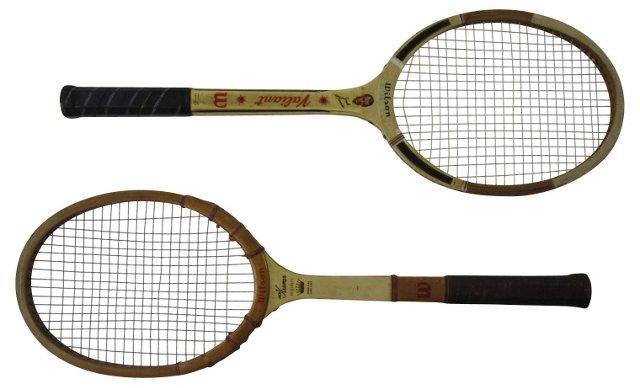 Cream Tennis Racquets, Pair