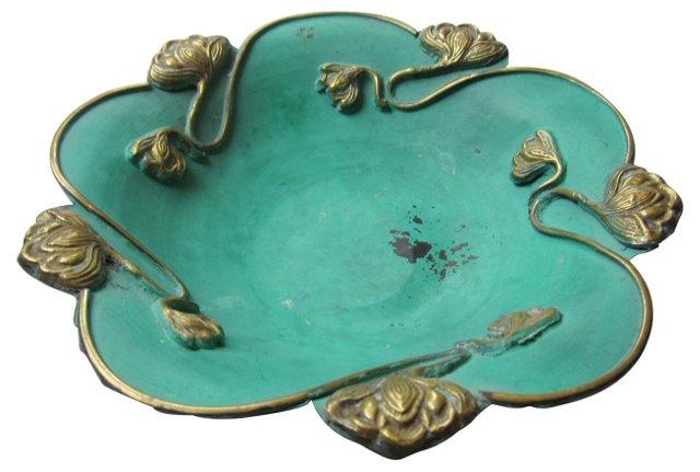 Brass & Green Bowl