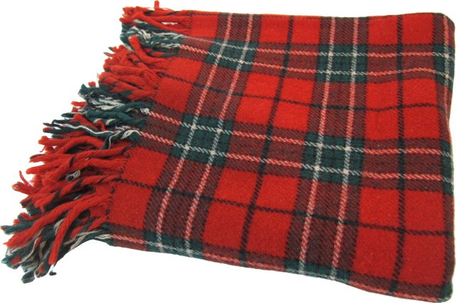 Red & Green Plaid Throw