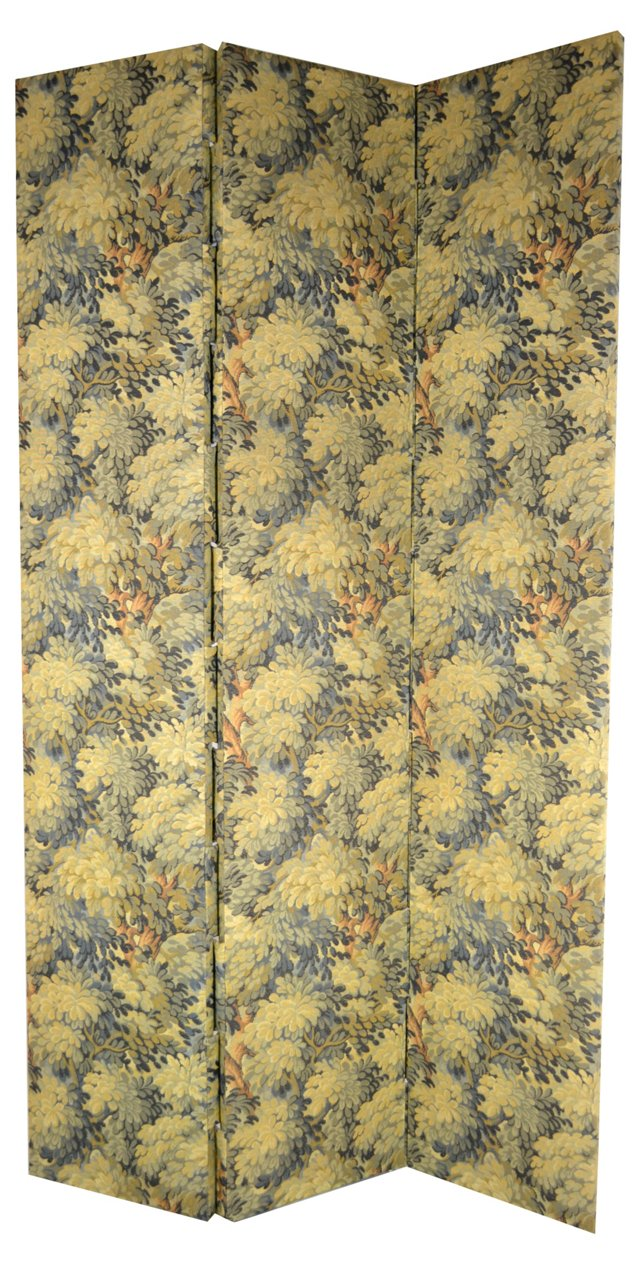 3-Panel  Tapestry-Style Screen