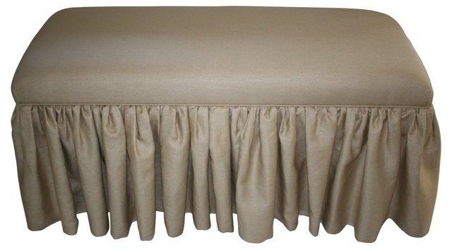 Linen Skirted Bench