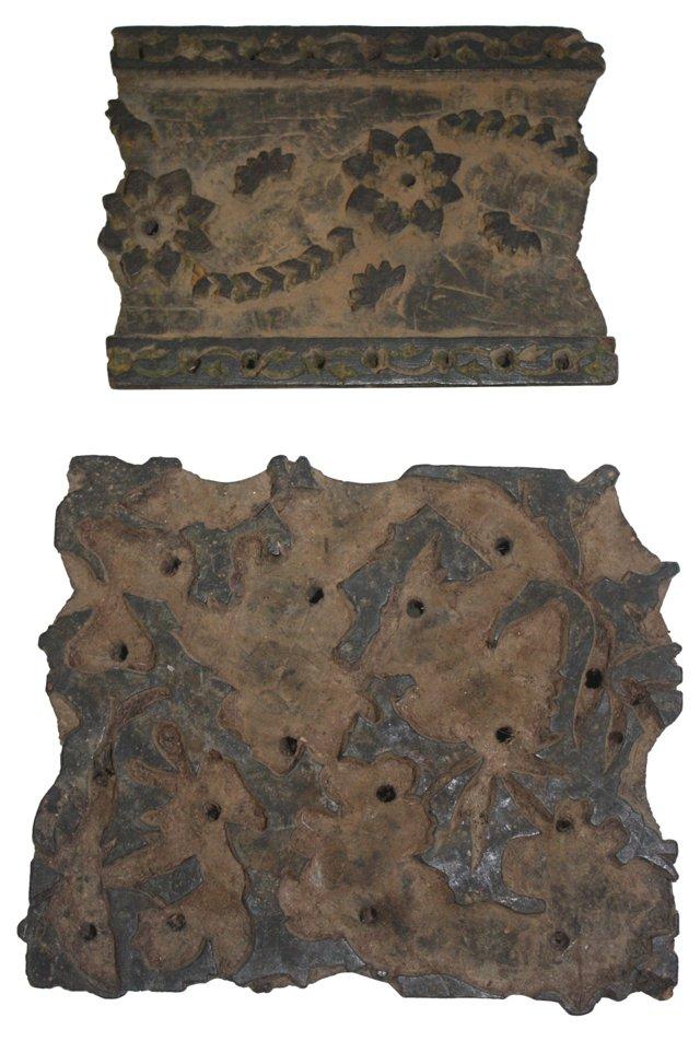 Wooden Batik Stamps, Pair