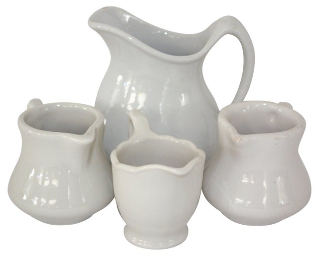 Ironstone Pitchers, Set of 4