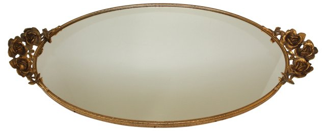 Gold-Plated Vanity Mirror