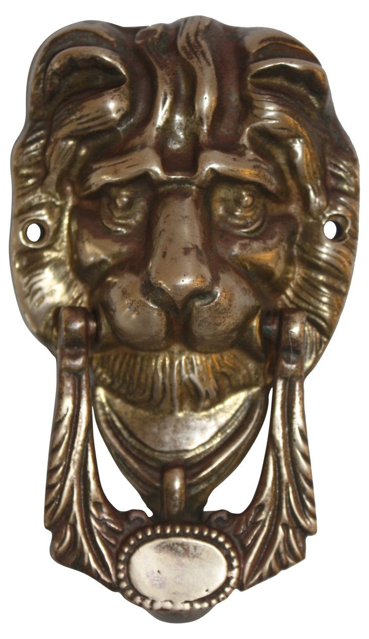 Bronze Lion's Head Door Knocker