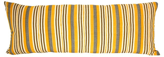 African Woven Textile Bolster