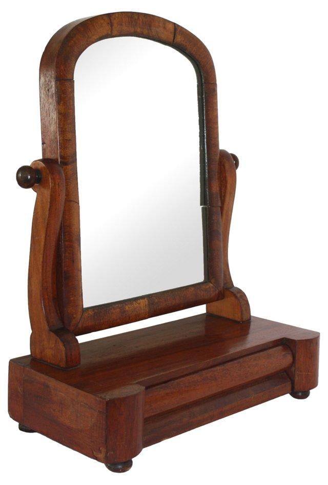 Mahogany Dresser Mirror w/ Drawer
