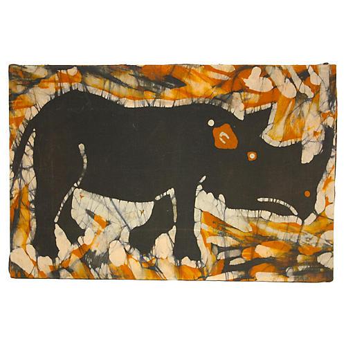 1970s Kenyan Rhino Batik