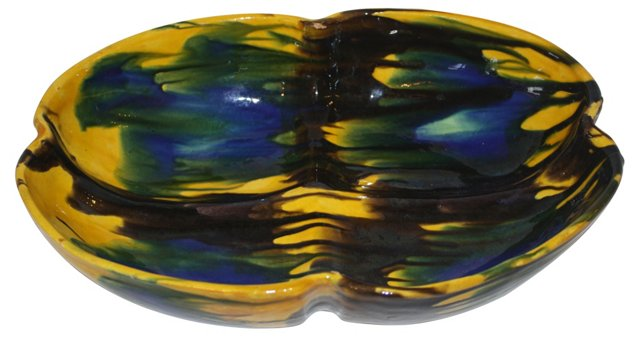 Mexican Glazed Pottery Bowl