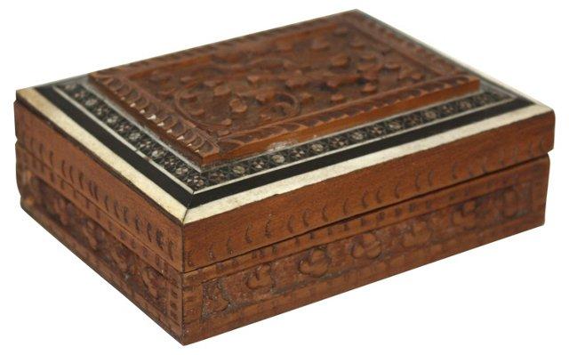 Wood & Bone Inlaid Box