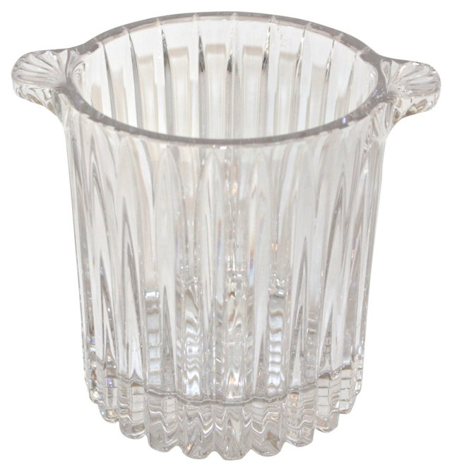 Faceted Glass Ice Bucket