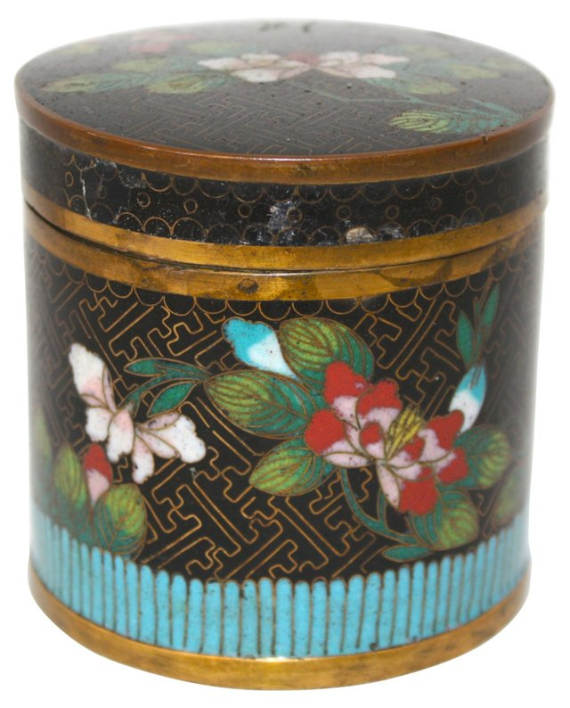 Antique Chinese Cloisonné Covered Box