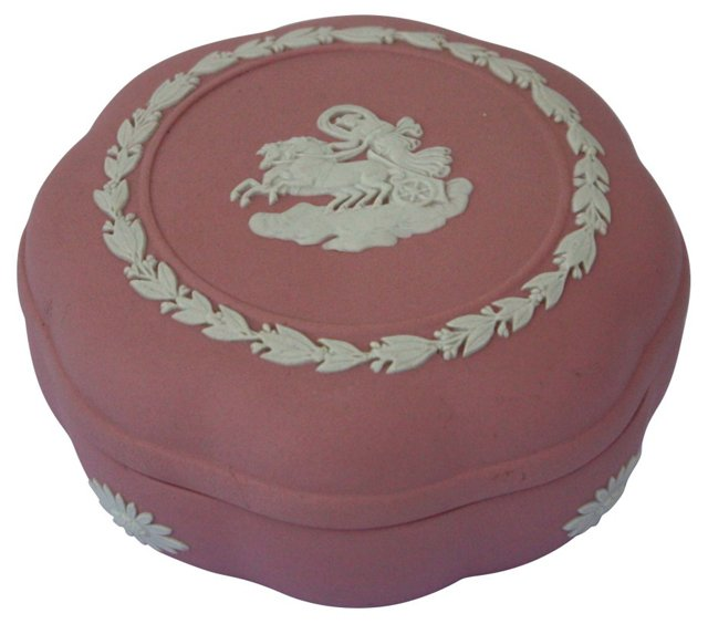 Pink Wedgwood Trinket Box