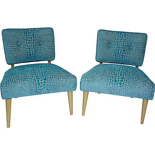 Kroehler Haines-Style Chairs, Pair