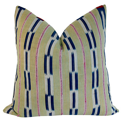 Baule Ikat Textile Pillow