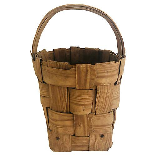 Primitive Turkish Basket w/ Handle