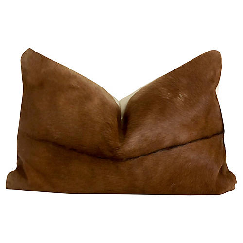 Natural Goat Hide Lumbar Pillow