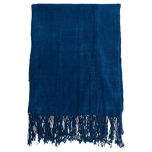 African Indigo Throw