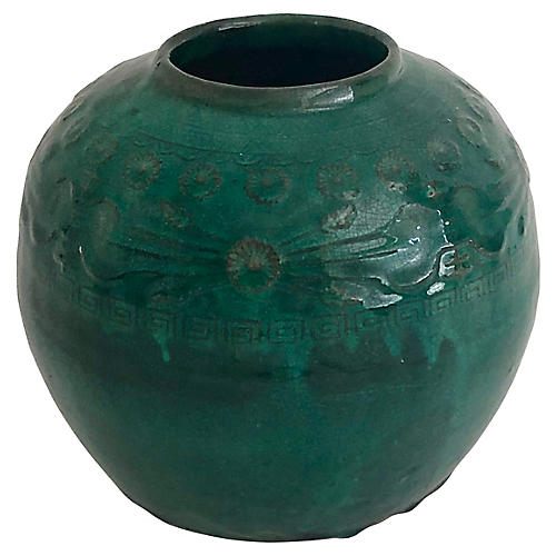 Antique Chinese Green Glazed Pot