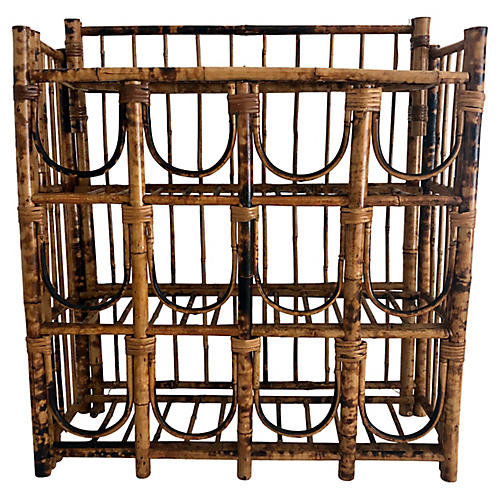 Tortoise Shell Bamboo Wine Rack