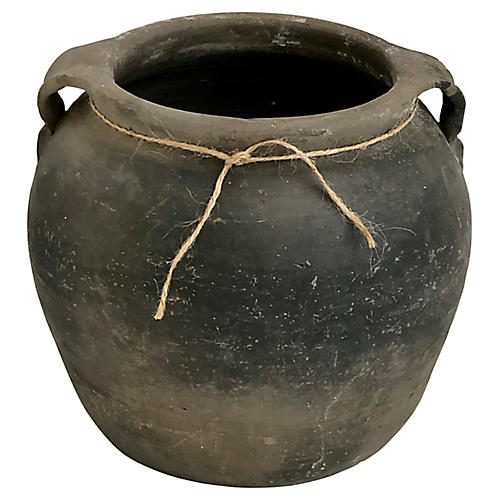 Antique Chinese Black Pottery Jug