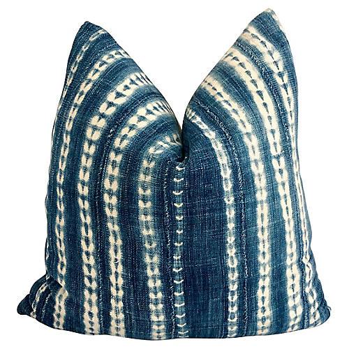 Malian Indigo & Linen Pillow