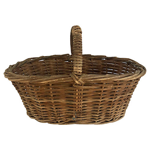 Antique New England Willow Basket