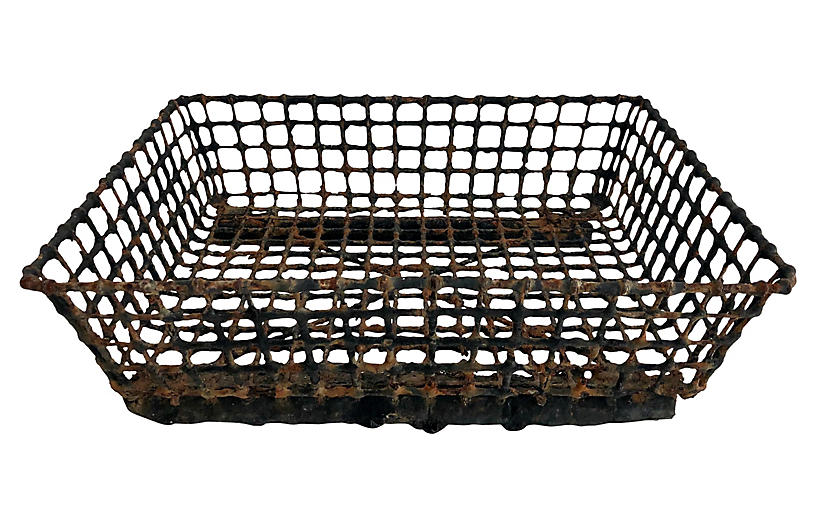 French Wire Oyster Basket