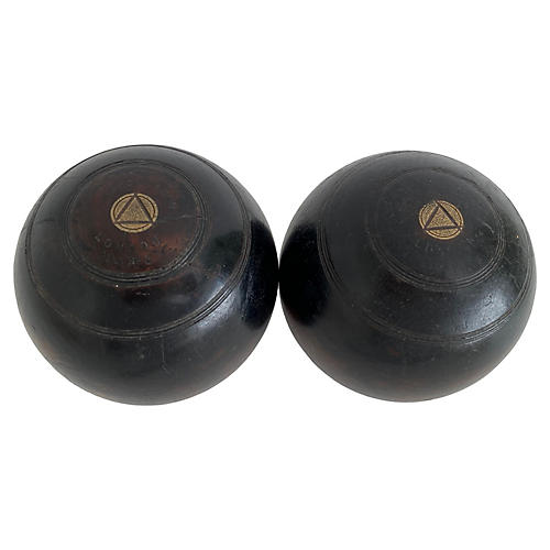 1924 Jaques & Son Bowling Balls, Pair