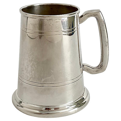 English Sheffield Silver Tankard