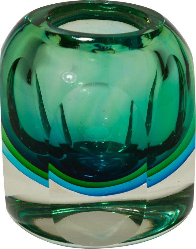 Murano Sommerso  Vase