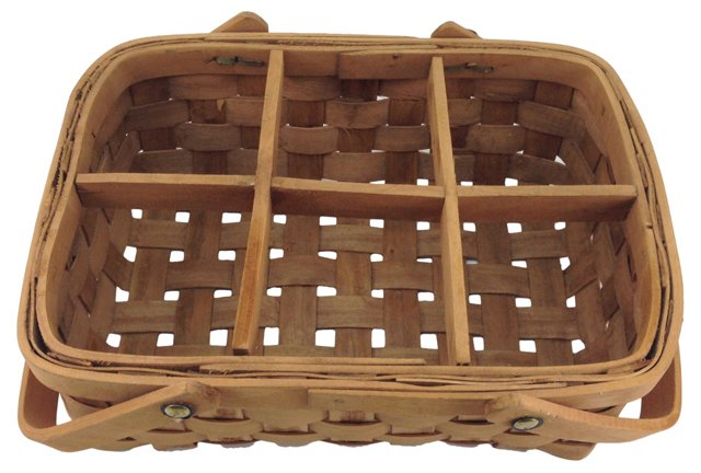 Divided Wood Splint Basket