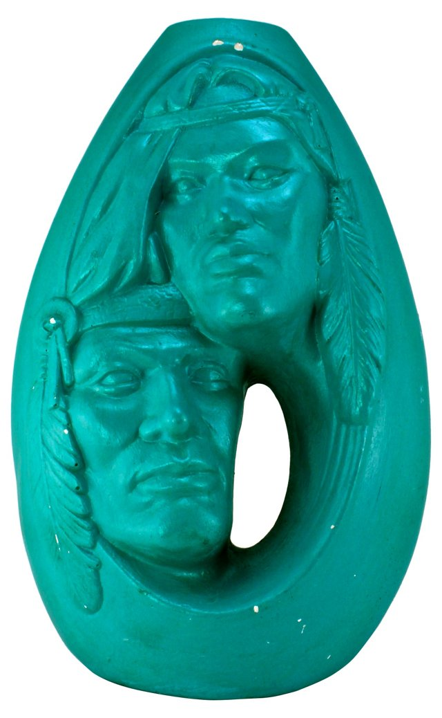 Navajo-Style Turquoise Vase