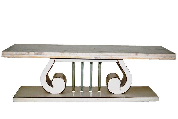 Narrow Lyre Coffee Table