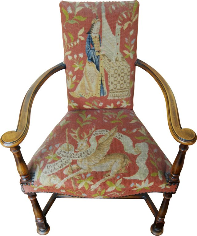 Needlepoint Tapestry Chair
