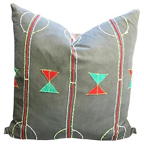 Geo African Textile Pillow