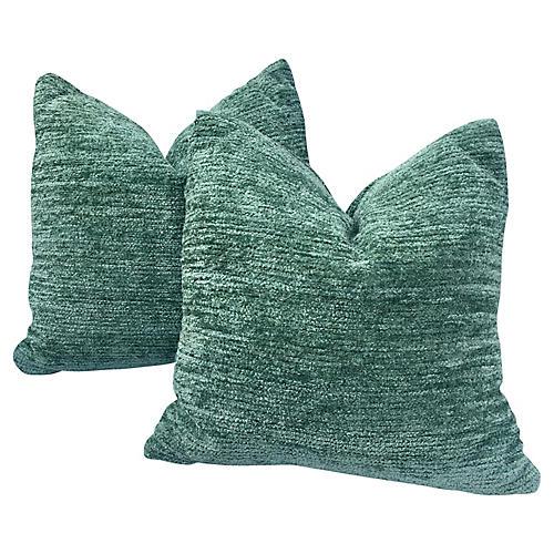 Chenille Pillows, Pair