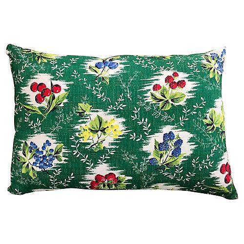 Berry Barkcloth Pillow