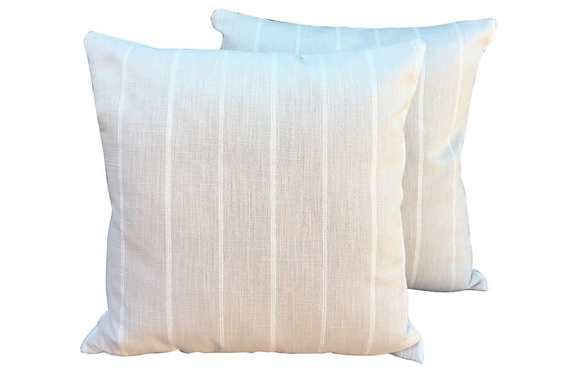 Striped Pillows, Pair