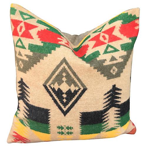 Wool Blanket Pillow