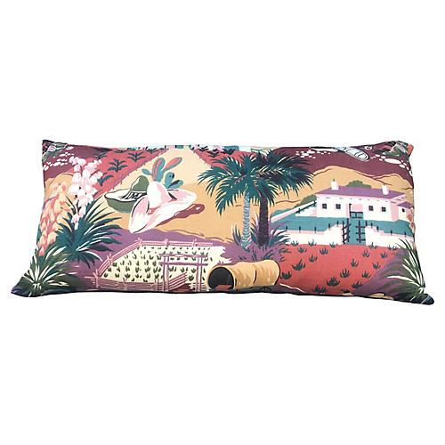 Retro Western Lumbar Pillow