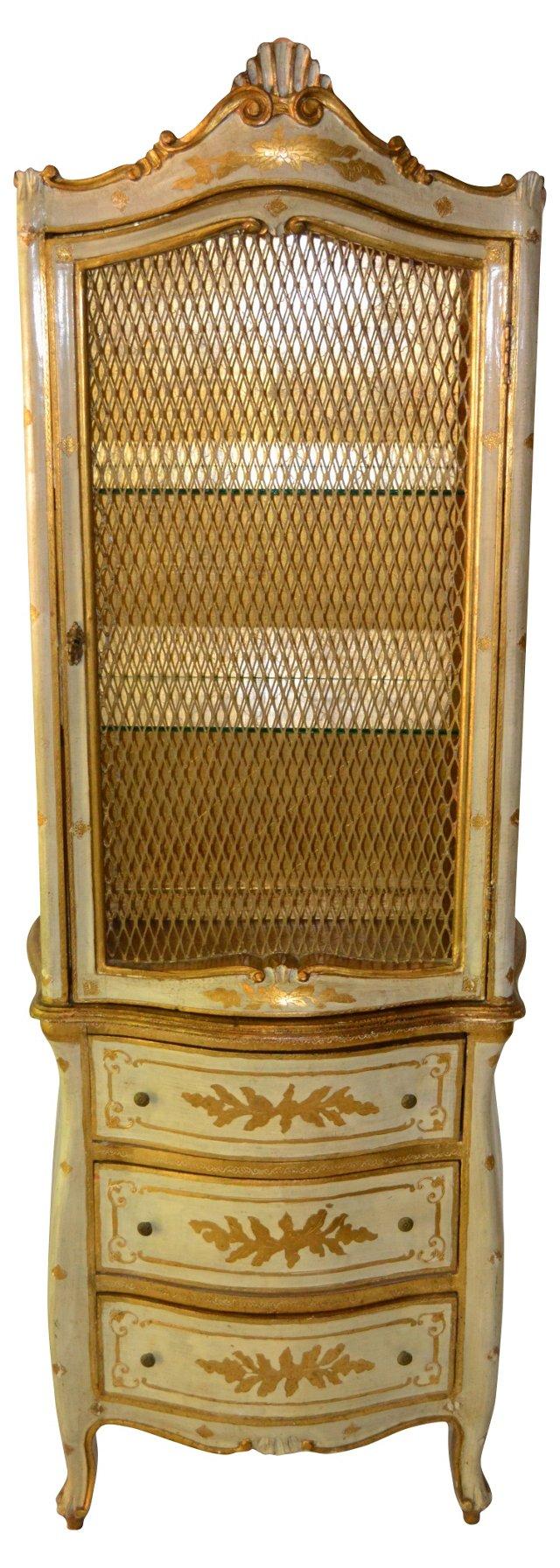 Gilt Florentine Display Cabinet