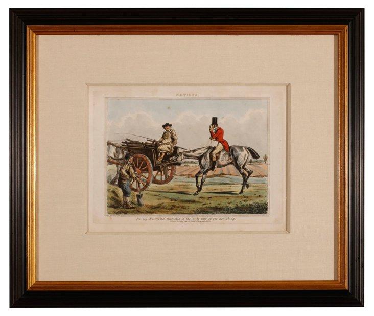 Horse & Carraige by Henry Alken