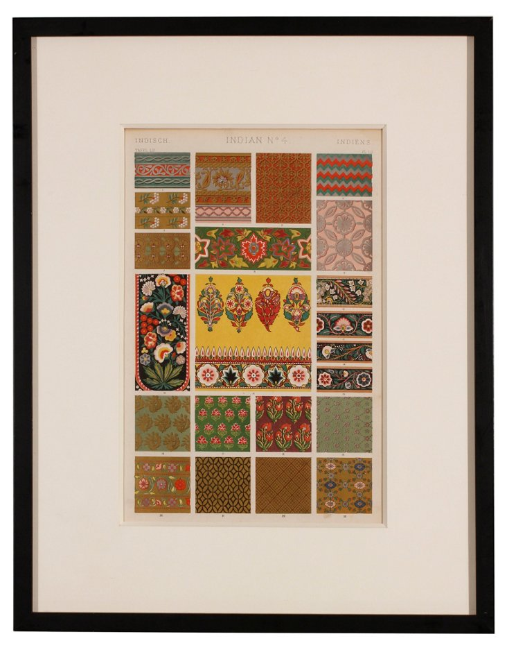 Indian Chromolithograph by Owen Jones