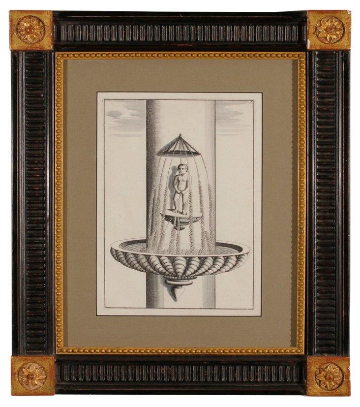 17th-C. Fountain Engraving