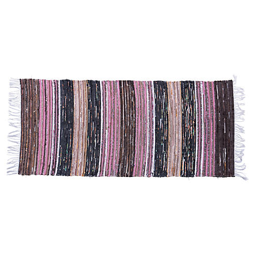 "Swedish Handwoven Rug, 5'3"" x 2'4"""