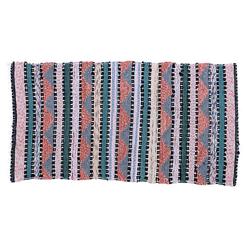 "Swedish Handwoven Rug, 4'2"" x 27"""