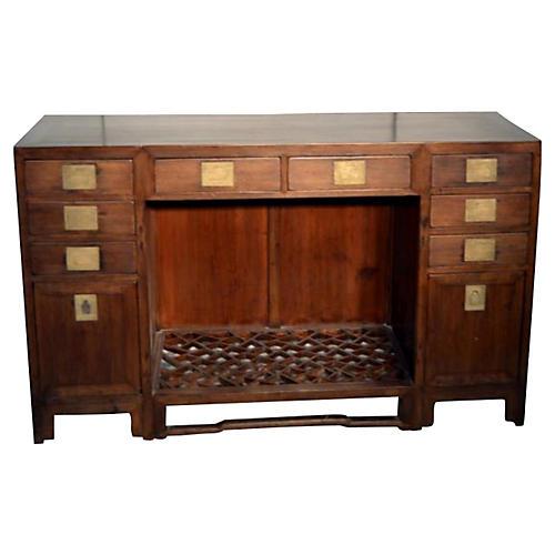 Antique Chinese Fretwork Desk